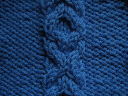 knitting cable pattern; linked rings