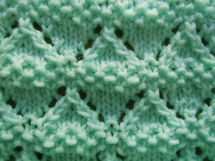 Moss Lace Knitting Stitch How To Knit Cool Diamond Knitting Pattern
