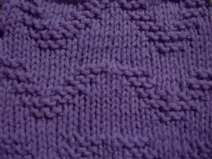 ocean wave stitch knitting pattern