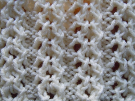 Open chain ribbing knitting stitch; how to knit