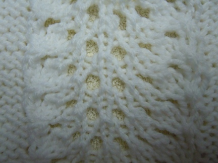 ostrich plume panel knitting pattern