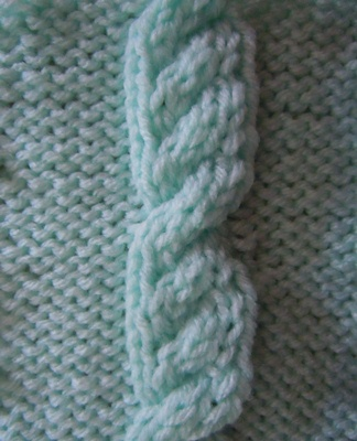 Cable Stitches For Knitting : Overlapping Cable knitting stitch; how to knit