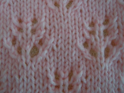 pine cone pattern knitting stitch