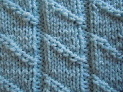 Slanted Bamboo Knitting Stitch How To Knit