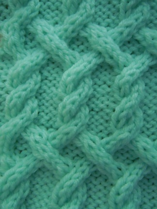 Cable Knitting Stitches Patterns : Turning Diagonals Cable knitting stitch; how to knit