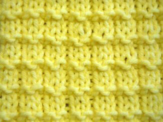 Learn to knit the waffle stitch