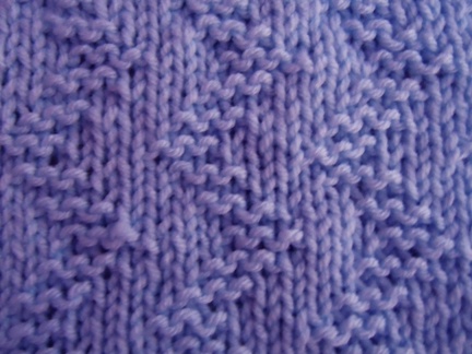 Zigzag knitting stitch; how to knit