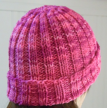 Free Knitting Pattern For Mens Ribbed Hat : Knitting Patterns from Craft Elf