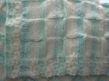 How to knit, Checkerboard knitting pattern for baby blanket