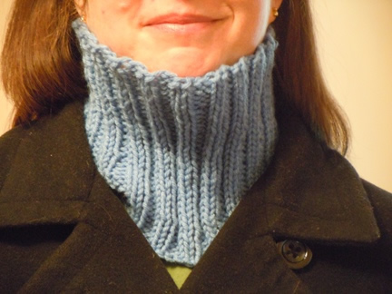 neck warmer knitting pattern