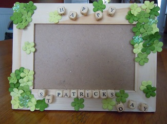 st. patricks day wooden picture frame