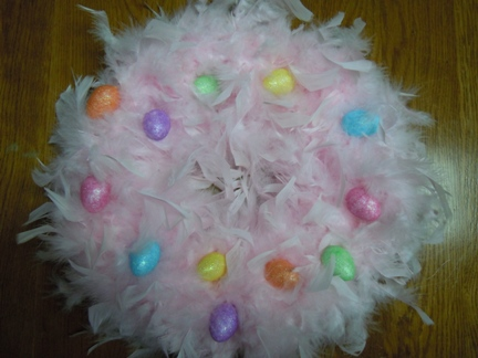 Easter wreaths, how to make a wreath