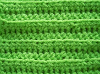 back loop half double crochet stitch pattern