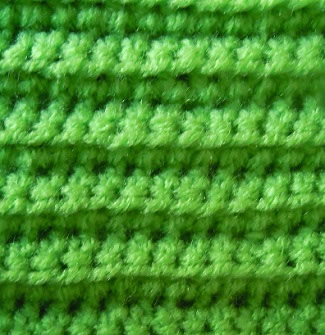 crochet pattern - back loop single crochet stitch