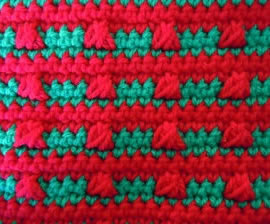 colorful stripes crochet stitch