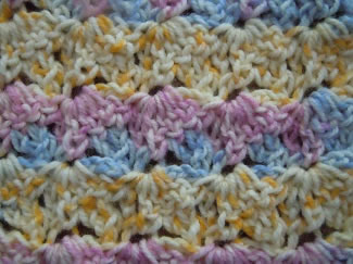 diagonal shell crochet pattern