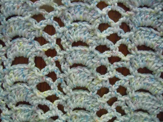 fan trellis crochet stitch pattern