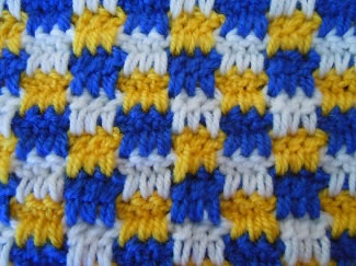 Interlocking block crochet stitch crochet pattern