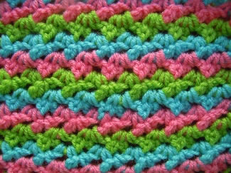 multi colored parquet crochet pattern