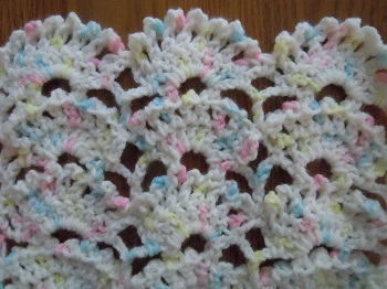 Crochet Stitches With Pattern : Picot Fan crochet stitch; crochet pattern