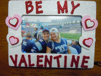 Valentine Craft Ideas Glitter And Craft Foam Picture Frame