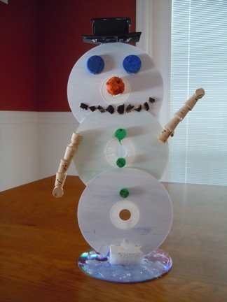 how to make a cd snowman