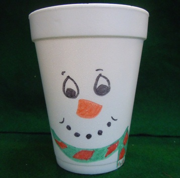 snowman party cup craft